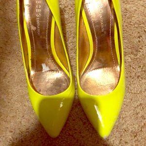 Neon yellow heels